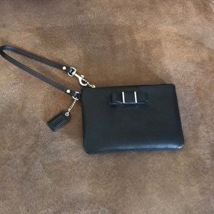 Black Coach Wristlet - small